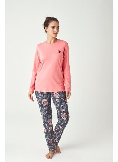 U.S. Polo Assn. Kadın Pijama Takımı Mercan